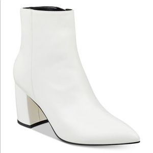 Marc Fisher White Retire Bootie